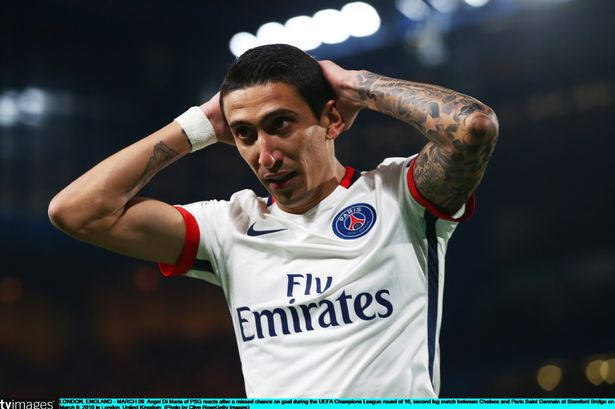 Di Maria suffers injury scare ahead Manchester City's Champions League clash with PSG