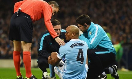 Manchester City defender Vincent Kompany will be out for 'six to eight weeks'